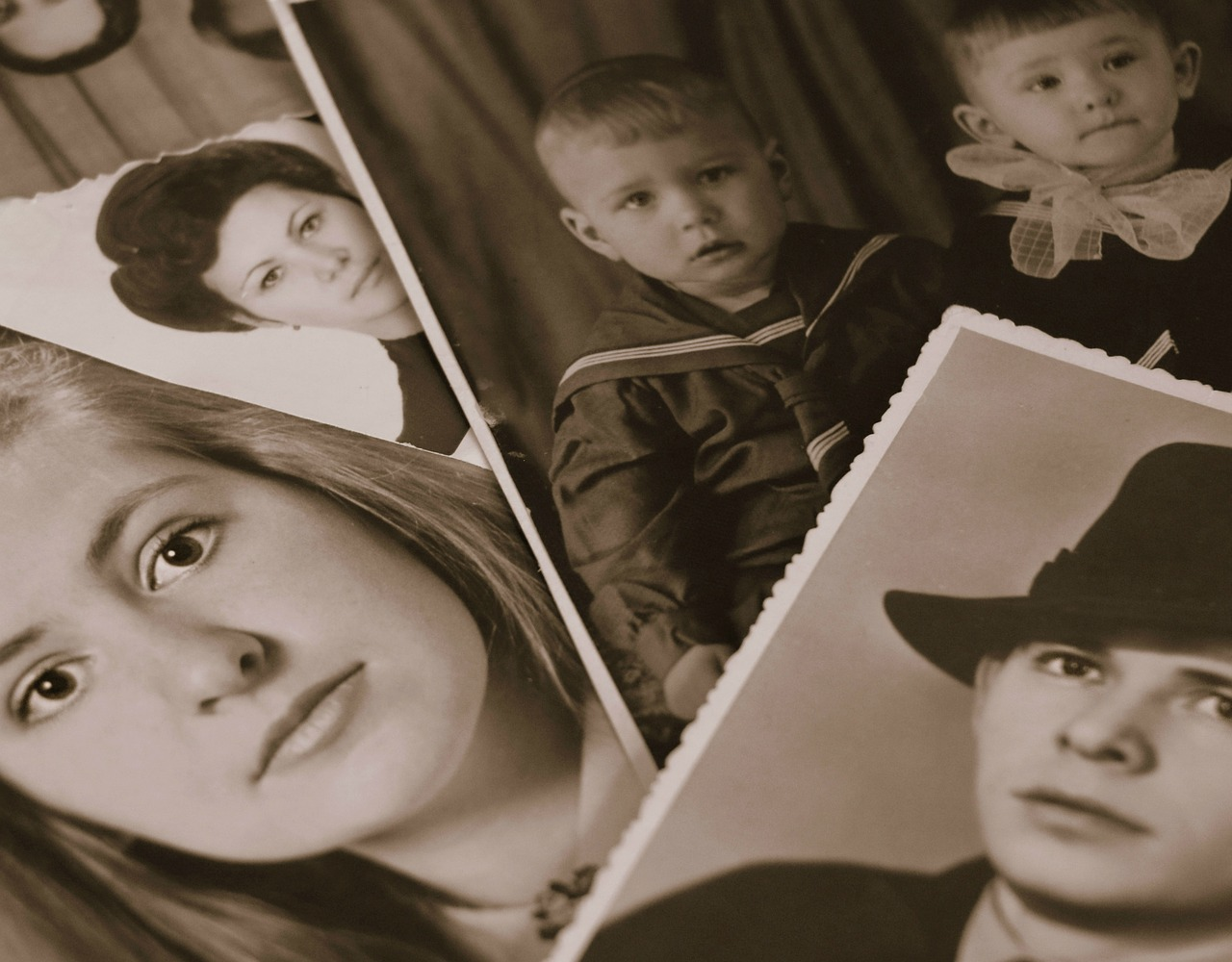 image of old photos of people